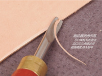 Free Shipping Leather Craftool Wooden handle Keen Edge Beveler With 1.3 MM Blade