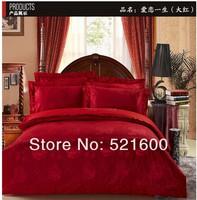 4Pcs bedding set 100% cotton tribute silk jacquard  embroidered bedding set comforter cover bedspread pillowcase Drop Shipping