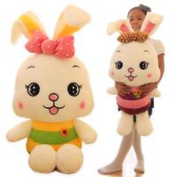 Birthday gift bow Large rabbit plush toy onrabbit doll dolls filmsize doll  50cm