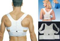 Adjustable Unisex Magnetic Posture Back Shoulder Corrector Support Brace Belt