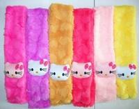 Hello Kitty cartoon Soft shawl muffle Plush Scarf Pink for Girl Children kids neck warmer