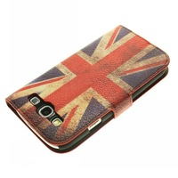 Retro Flag PU Leather Wallet Cover Skin Stand Case for Samsung Galaxy S3 i9300 Free Shipping