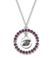 free shipping fashion rhodium plated  purple crystal sports series necklaces jewelry