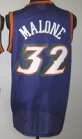 Free Shipping, Retail& Wholesales Basketball jersey #32 Karl Malone throwback Snow Mountain purple jersey