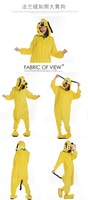 Fashion New Cosplay Adult Animal Pajamas Costumes Pyjamas SleepWear Yellow Dog All In One S M L XL. Free Shipping.