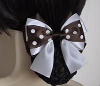 Hair accessory coffee bow net bag hair accessory