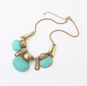 2013 New Fashion Ethic Style Printed Pendant Alloy Necklace For Women Elegant Vintage Bohemia Short Design Accessories