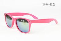 Pink ColourFree shipping New Fashion Women Sunglasses Lady Sunglasses UV400 Sunglasses For Women  Men 2036