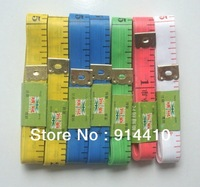 Free Shipping Wholesale Colors 30Pcs/Lot Profession Tailoring Tape Measure Flexible 1.3*150cm Sewing Measuring Body Tape Measure