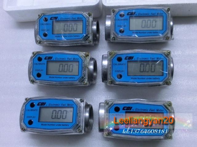 1'' Turbine Digital Diesel Fuel Flow Meter, electronic flow control meter, pumps measuring machine(China (Mainland))