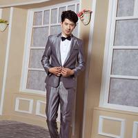 Male costume bridegroom slim formal dress the wedding suits