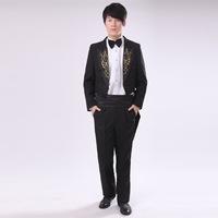 Male male tuxedo formal dress magic costume clothes dance clothes suit