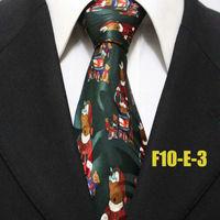New Arrival Mens Festival Christmas Bear Dark Green Neckties For Man Party Ties For Men Casual Original Holiday Gravatas F10-E-3