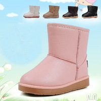 Fashion Retail winter child girls and boys snow boots 6 color children PU baby Kids Warm boots waterproof slip-resistant shoes