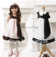 new,Free Shipping,bule and pink GThe princess dot dot gauze /Children's clothing,girl's dress, princess dresses