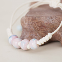 Free shipping Ceramic accessories porcelain beads bracelet multicolor ceramic bracelet candy color