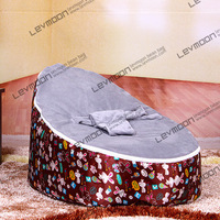 baby bean bag seat with 2pcs gray up cover baby bean bag chair white rabbit bean bags sofa bean bag FREE SHIPPING