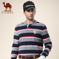 Camel camel men's clothing 2013 autumn casual t-shirt male cotton long-sleeve stripe t-shirt 096123