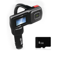 Free shipping Multifunctional Car Charger Car MP3 Bluetooth OLED Display Screen Standard accessories + 8G TF