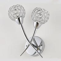 Free shipping Modern brief fashion k9 crystal double slider wall lamp ofhead frha b54