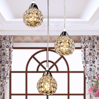 Free shipping crystal lamp Modern brief k9 crystal small pendant lamp small frhc 110