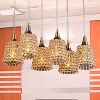 Free shipping Modern brief k9 gold crystal pendant lamp art pendant light lamp frhc 73