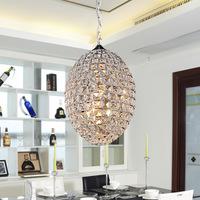 Free shipping Modern brief k9 gold crystal pendant lamp circle frhc 09b