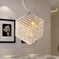 Free shipping Modern brief k9 crystal pendant lamp square lighting sparkling frhc 13b