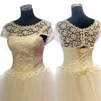 2015 euramerican style lace order bead bitter fleabane bitter fleabane  white dress free shipping