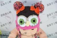 Fashion handmade crocheted owl hat child autumn and winter handmade ear protector cap cotton