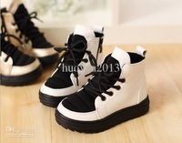 NEW winter Han edition section plus velvet leisure short winter boots boy and girl shoes princess boot 5pairs/lot free shipping