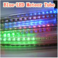 110V-220V-(8 set)(blue)3m LED Meteor Tube-LED lighting outdoor IP65 waterproof - Free Delivery