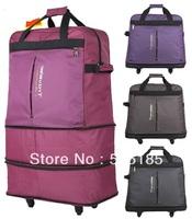 new brand traveler large capacity folding luggage suitcase for travel bag on wheels free shipping