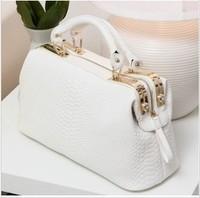 2013 brand vintage OL noble crocodile pattern handbag doctor bag women's designer handbag totes BG-1027