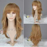 60cm Stylish Casual Hair Medium long Straight Wig kanekalon synthetic women wigs free shipping