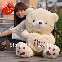 Lovely 35cm Mini Bear Hug LOVE Teddy Bear Plush toys Teddy Bear Doll Birthday Gift beige,white Free Shipping