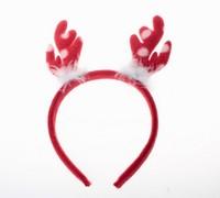 2013 New Christmas Present Dot Lovely Hairy Antler Hair Band Red SD12110107