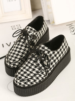 Harajuku platform flats shoes womens 2014 vivi fashion british style vintage flats deep shallow single shoes free shipping