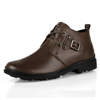 high fashion popular male single shoes male casual leather thermal cotton-padded shoes