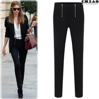 2013 fashion women's winter & autumn casual black skinny pants pencil pants/ trousers ,,free shipping,#13101101