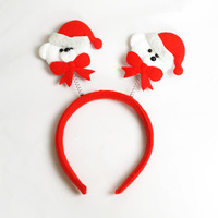 Christmas clothing christmas bear decoration bow tie headband hair bands (High about 23 cm)