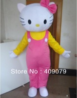 hello kitty Mascot Costume Christmas Adult Cartoon Fancy sexy Halloween Dress kids party