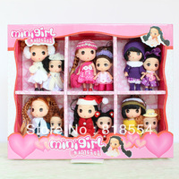 Confused doll for girls New Year Christmas gift mini girl toy doll 12pcs/set 6pcs12cm tall and 6pcs 9cm tall free shipping