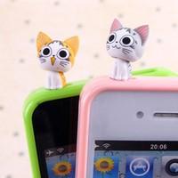 Cheese cat  for iphone   4s mobile phone dust plug cartoon iphone5 plug earphones