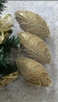 2013 New Lovely Cute Christmas Tree Decorate Beading Pattern Ornaments Gold/Silver IOUYW11101205