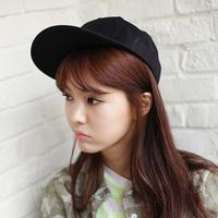 Color block decoration solid color flat brim cap flat along the cap hip-hop hiphop cap baseball cap summer male