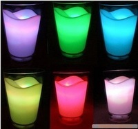 Seven color allochroism milk cup lamp small night light/   colorful white milk cup lamp/ gift