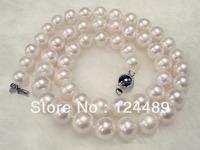 China Zhuji producing 8-9MM natural pearl necklace perfect circle