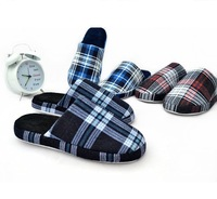 2013 male cotton-padded winter plaid slippers indoor home cotton-padded slippers floor wool slippers