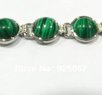 "New Green Malachite Beads   Bracelet 8""Fashion jewelry"